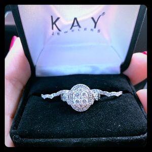 Engagement ring/Wedding band set